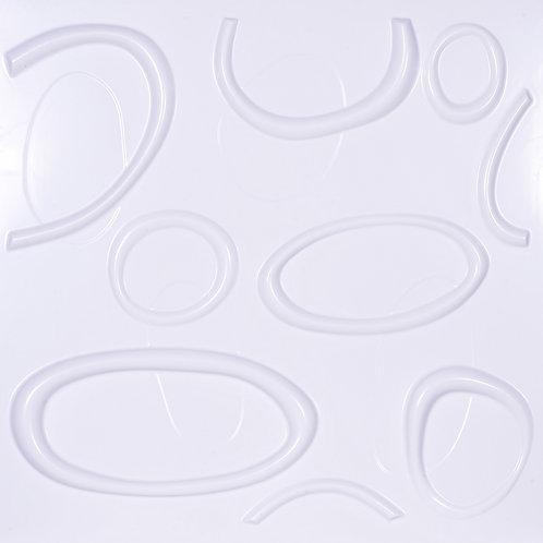 3D Wall Panel ผนังสามมิติ วัสดุ POLY ลาย CELL ขนาด 50*50cm. (ราคาต่อ1ตร.ม)