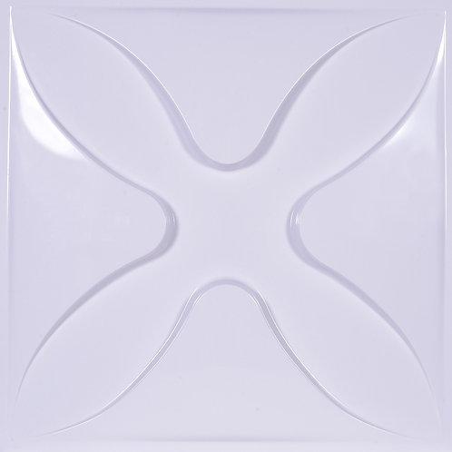 3D Wall Panel ผนังสามมิติ วัสดุ POLY ลาย FOUR LEAF ขนาด 50*50cm. (ราคาต่อ1ตร.ม)