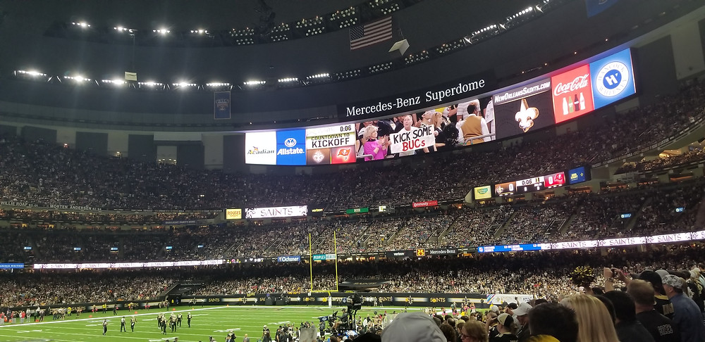 Stadium Reviews Mercedes-Benz Superdome in New Orleans