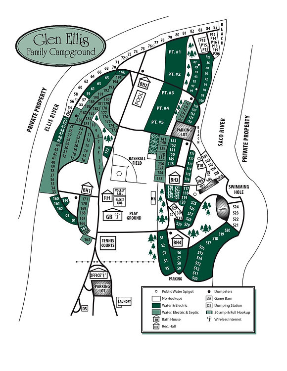 Site Map | Glen Ellis Family Campground