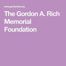 Gordon A. Rich Memorial Scholarship