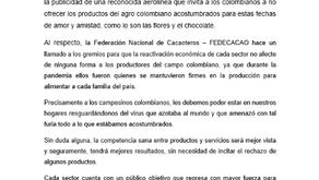 FEDECACAO hace un llamado a los gremios industriales
