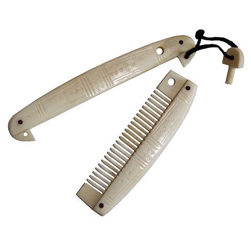 Viking Bone Comb in Case
