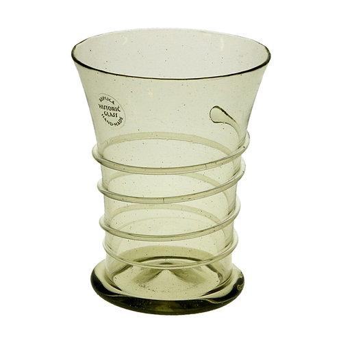 Beaker with thread spiral