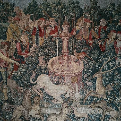 "Unicorn at Fountain ""The Hunt of the Unicorn"""