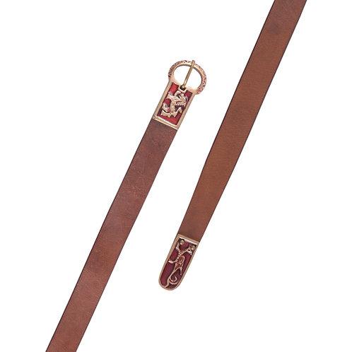 Long Medieval Leather Belt
