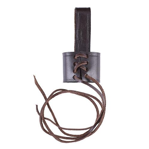 Adjustable Belt Holder for Dagger, Brown Leather