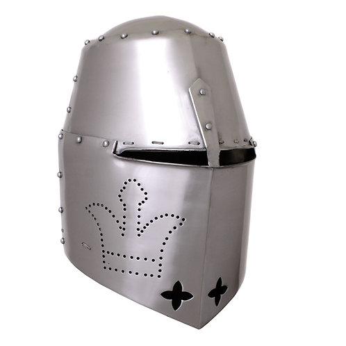 Black Prince Great Helmet, 2 mm steel, with padded liner