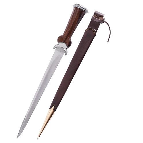 Bollock Dagger with Leather Sheath, 15th c.