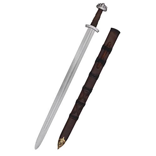 10c Viking Sword w. scabbard, five-lobed pommel, regular