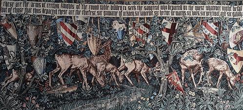 William Morris Holy Grail Verdure with Deer
