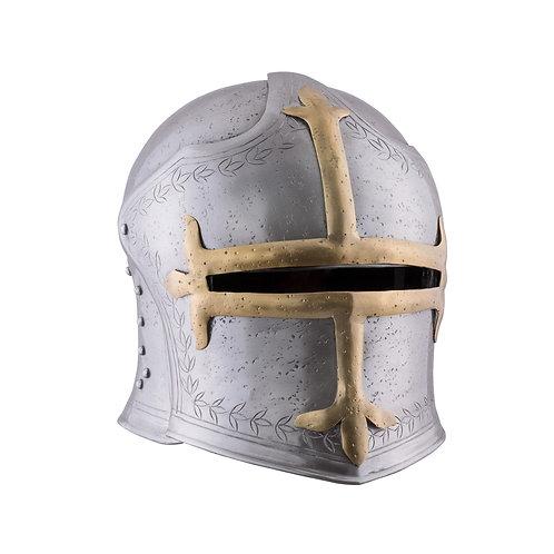 Medieval Archer's Sallet with Hinged Visor, 1.6 mm Steel