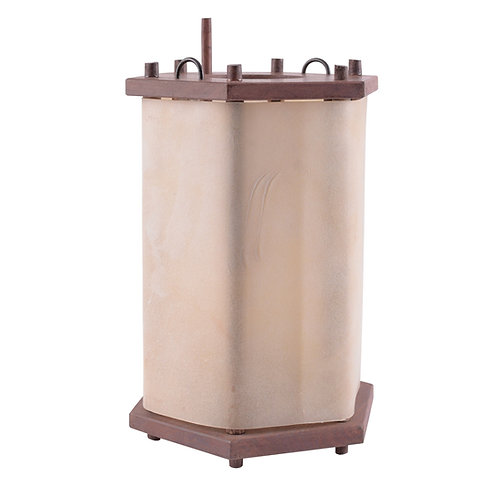 Lantern from wood with rawhide