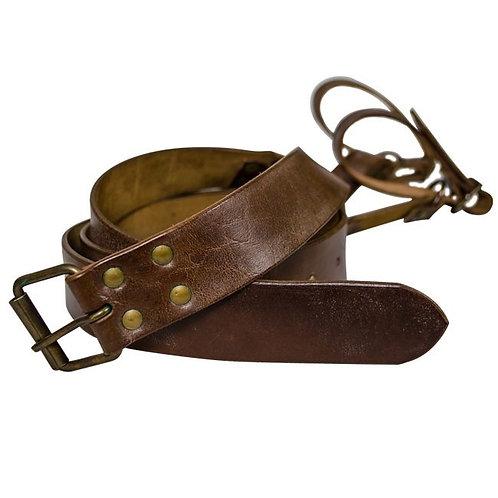 Sword belt brown leather