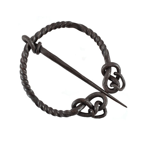 Twisted ring fibula with snake tail