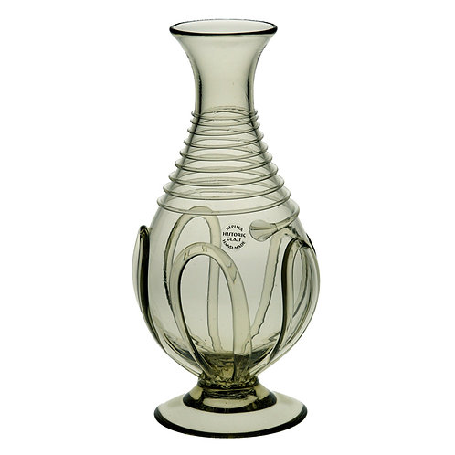 Bottle with glass thread decor