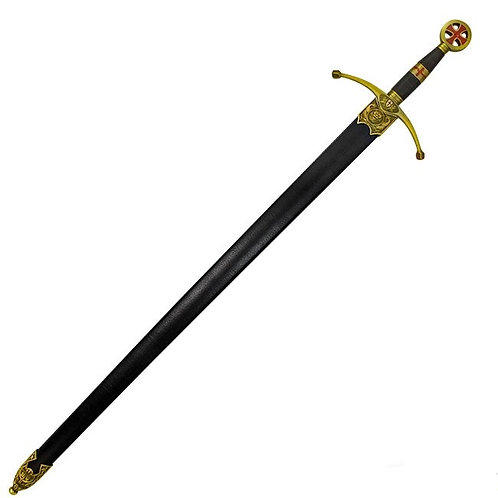 Crusader Sword (Brass Hilt) with Scabbard