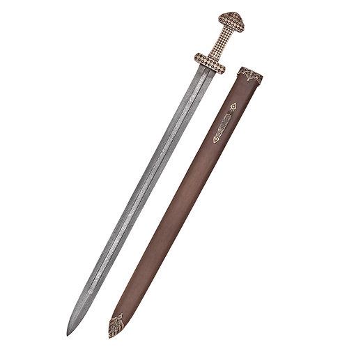Viking Sword with Bronze Hilt Peterson Type D Damascus