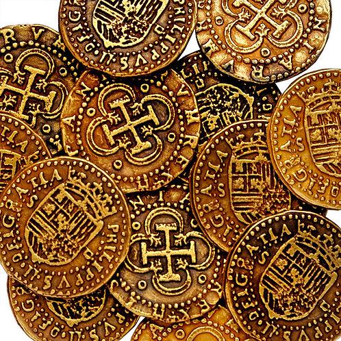 5 Golden Doubloon Felipe II 1556to1598