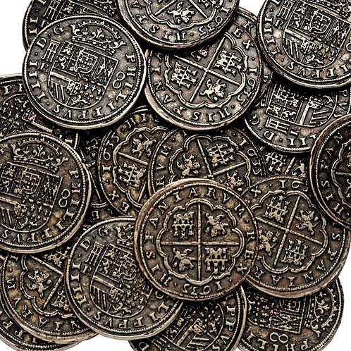 5 Silver Pieces Of Eight