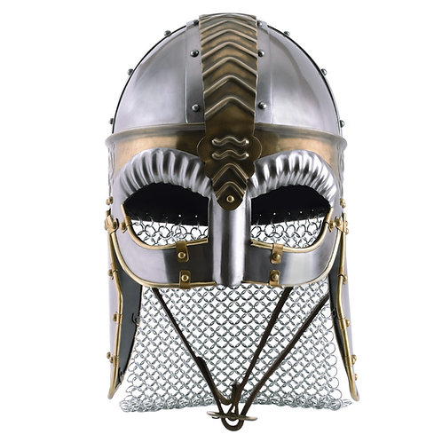 Spectical Helmet Beowulf with cheek guards and aventail