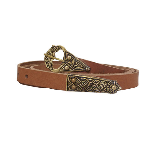 Viking/Early medieval long belt from cowhide