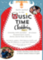 Music Time Christmas Party Poster - Copy