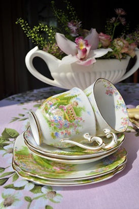 Delicate Cups and Saucers