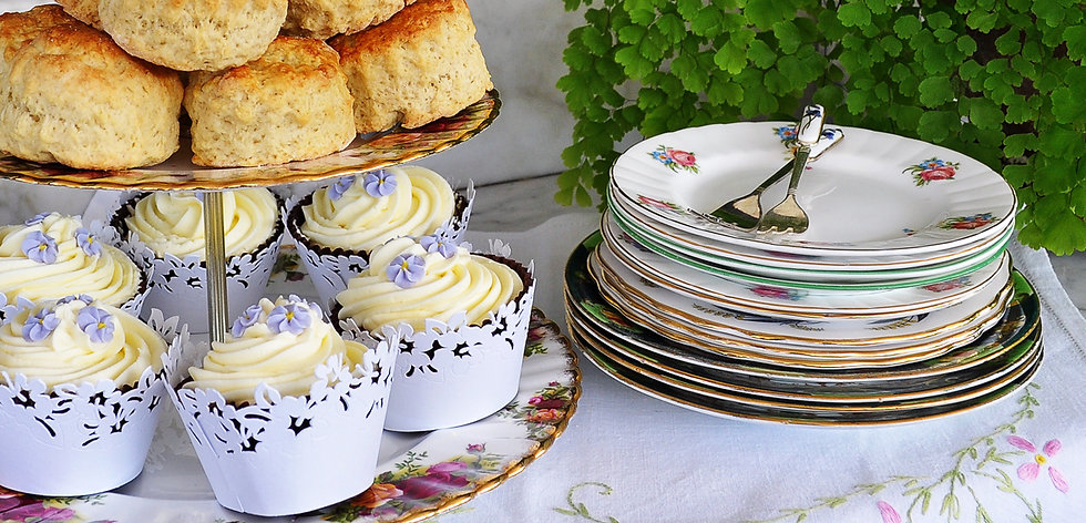 Stack of Cake Plates available to hire