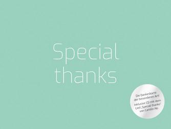 """Aller guten Dinge sind drei: Unsere neue Dankeskarte """"Special thanks""""!"""