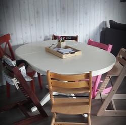 Nieuwe Kidz Cafe tafel. Heeel blij mee.. #newtable #blijei