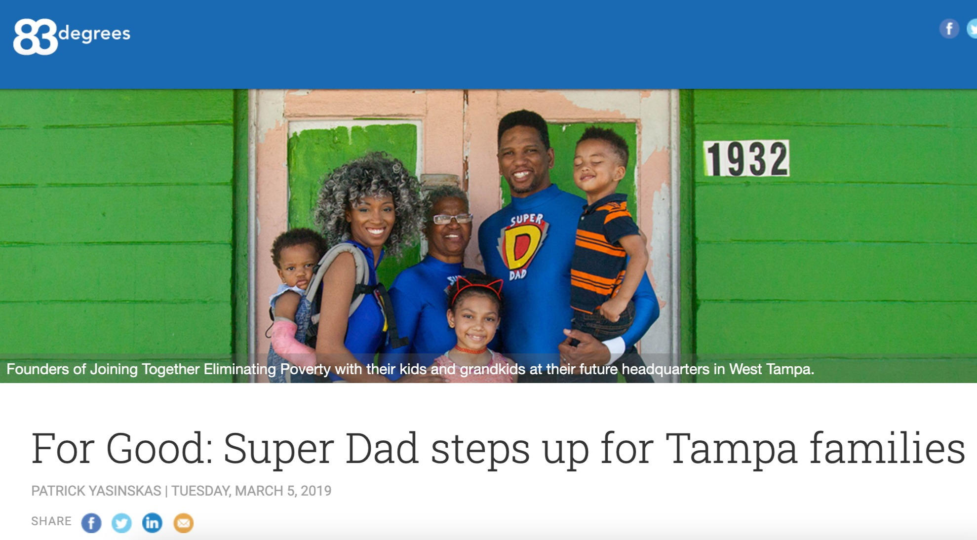 SuperDad steps up for Tampa families