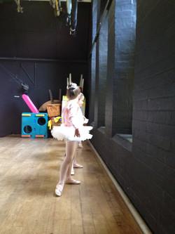 Ballerinas ready to perform