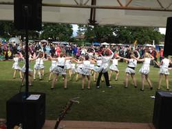 Performing at the Horley Carnival