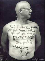 James Nash poetry on chest picture