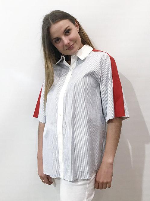 Sonia Rykiel - Chemise Bleue et rouge