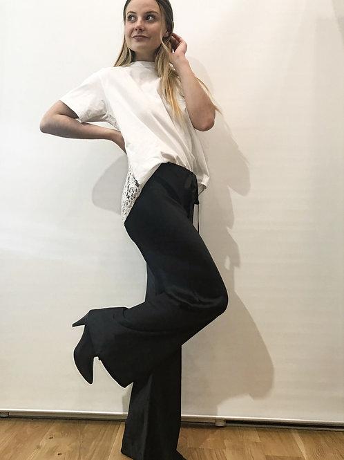 Roberto Cavalli - Pantalon en soie noir
