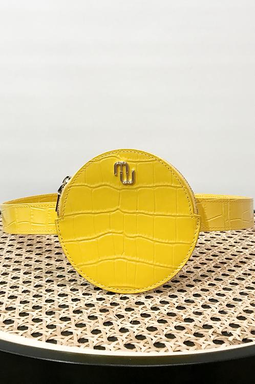 Maje - Pochette ceinture jaune