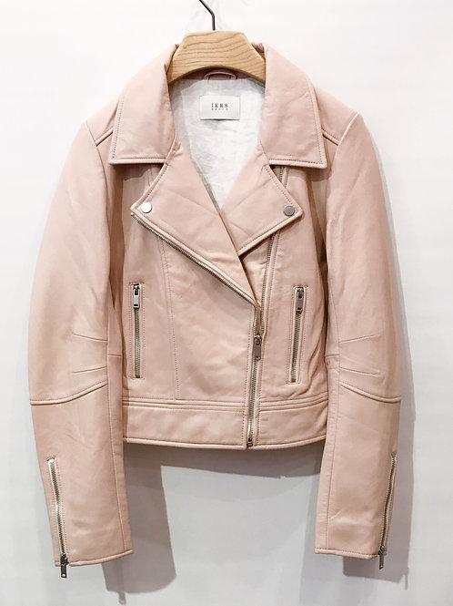 IKKS - Blouson cuir rose clair