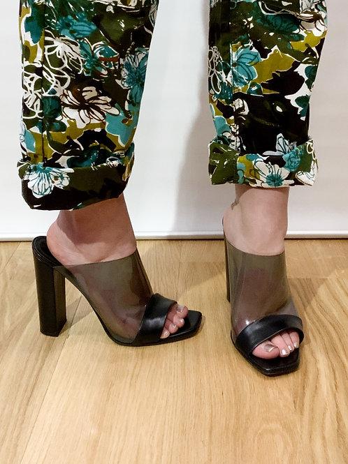 Celine - Mules noires transparentes