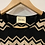Thumbnail: Dixie - Pull manches courtes noir et beige