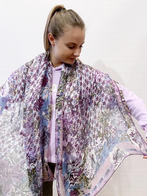 Kenzo - Étole violette mousseline