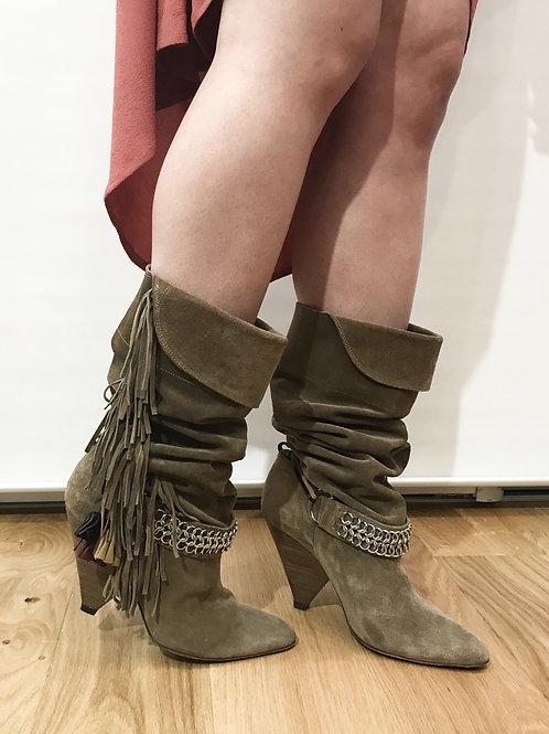 Isabel Marant - Bottes beige à franges