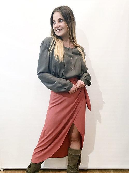 Vanessa Bruno - Jupe portefeuille brique