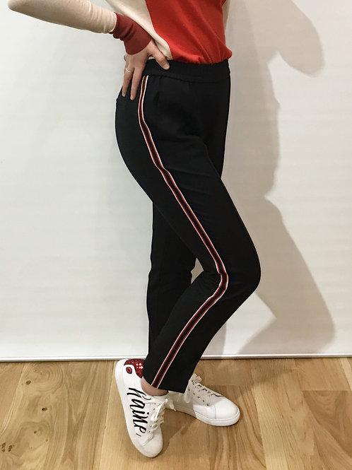 Boss - Pantalon noir et rouge