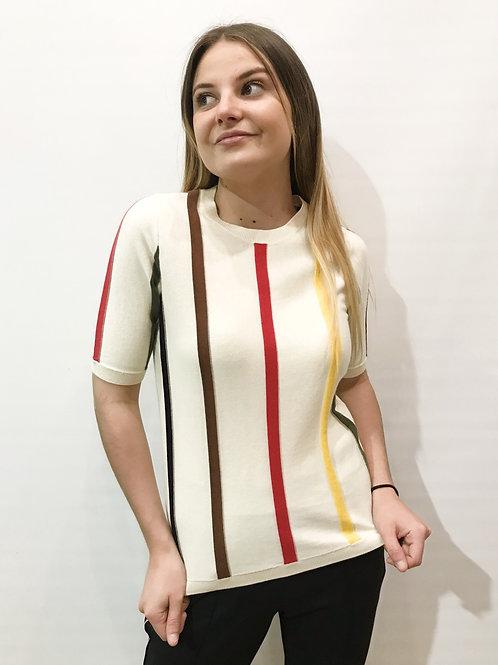 Sonia Rykiel - Pull beige rayé