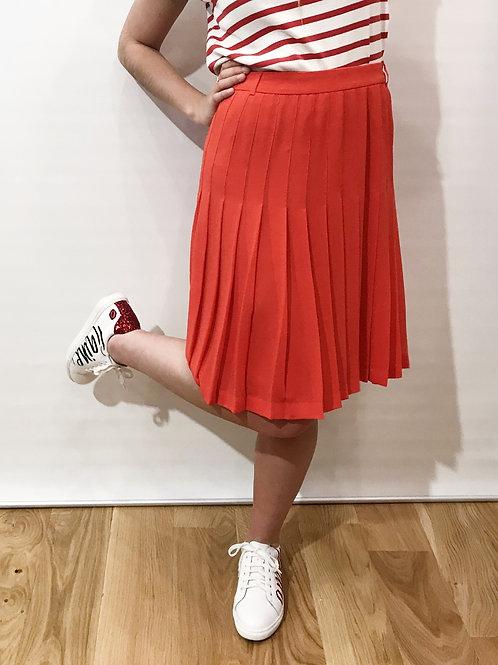 BCBG Maxazria - Jupe plissée rouge