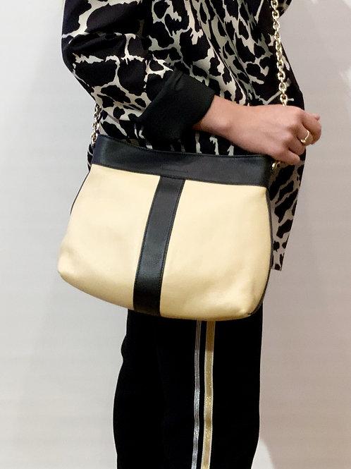 See by Chloé - Sac cuir beige/noir