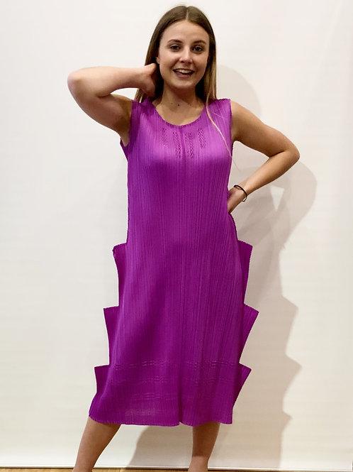 Pleats Please - Robe violette