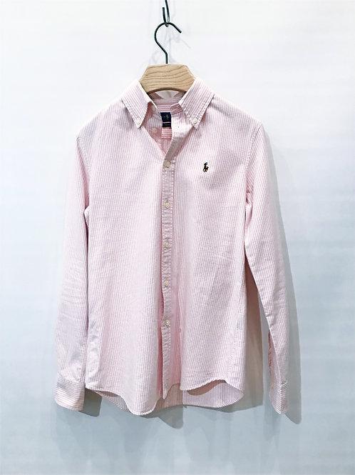 Ralph Lauren - Chemise rayée rose et blanche